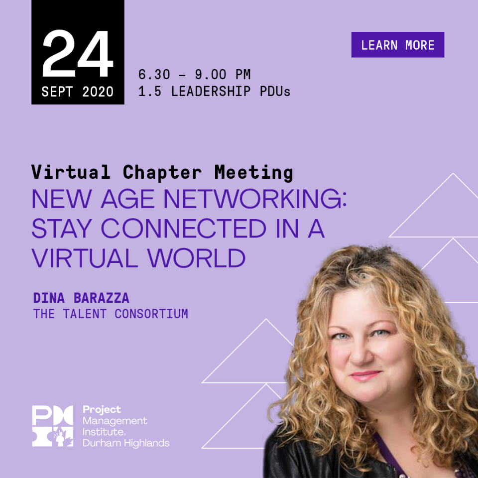 September 24, 2020 Virtual Chapter Meeting