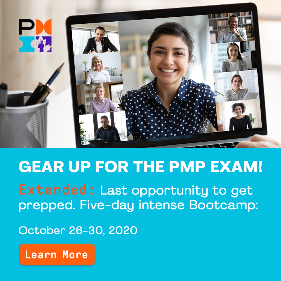 Virtual Project Management Professional (PMP®) Exam Preparation Course (Bootcamp offering)