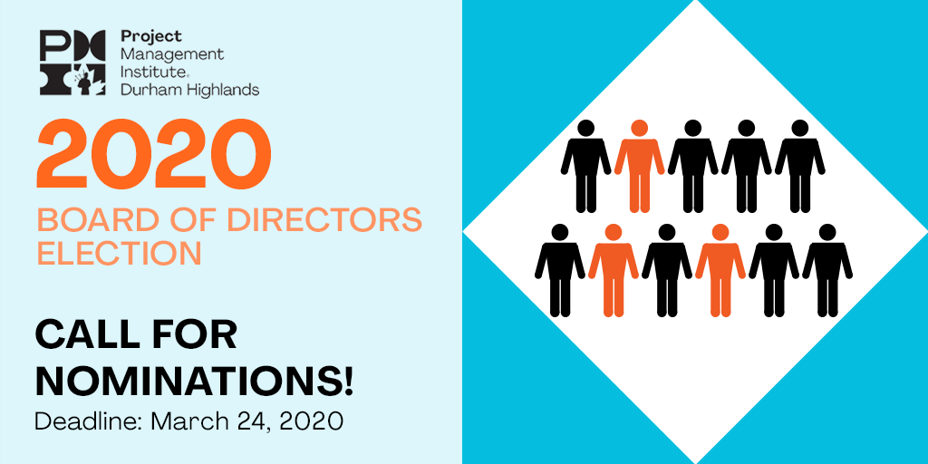2020 Board of Directors Election. Call for Nominations! Deadline March 24, 2020.